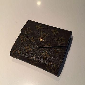 Tagre™ onetow One-nice? Auth LOUIS VUITTON Elise Trifold Wallet Purse Monogram Leather