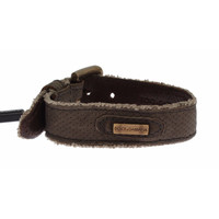 Dolce & Gabbana Brown Leather Buckle Strap Bracelet