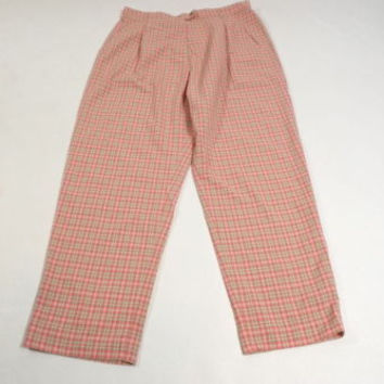 VINTAGE  wTag PLAY Leon Levin womens Casual Golf Tennis Office pants Size 18 $80