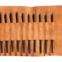 Charles Leather Pencil Roll, Whiskey, Other Lifestyle Accessories