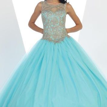 Gold lace top quinceanera Dress Mayqueen LK72 - CLOSEOUT