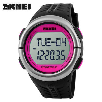 SKMEI Pedometer Heart Rate Monitor Calories Counter Fitness Tracker Outdoor Men Sports Watches Digital Watch Women Wristwatches