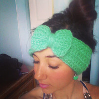 Women's Crochet Earwarmer with a Bow