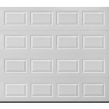 Shop Pella Sutherland 1L Series 9-ft x 7-ft True White Garage Door at Lowe's