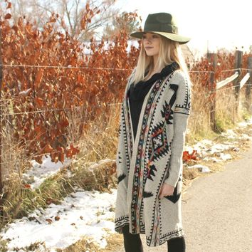 Winter Bohemian - Southwest Sweater