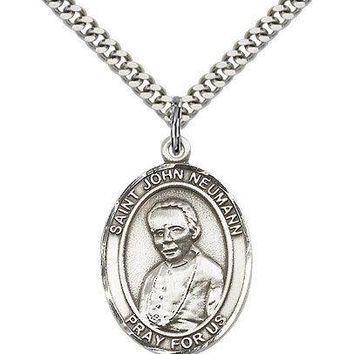 "Saint John Neumann Medal For Men - .925 Sterling Silver Necklace On 24"" Chain... 617759356595"