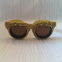 Golden Knitted Sunglasses