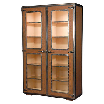 Ferault 2-Door Bookcase, Oak, Bookcases & Bookshelves