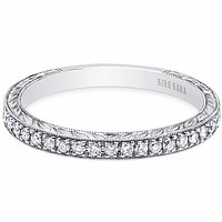 "Kirk Kara ""Carmella"" Hand Engraved Diamond Wedding Band"