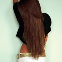 24 Inch Chestnut Brown Clip In Hair Extensions by TheHairAffair