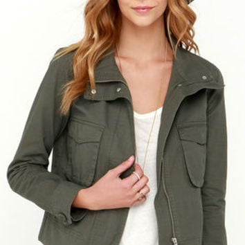 BB Dakota Pax Olive Green Jacket
