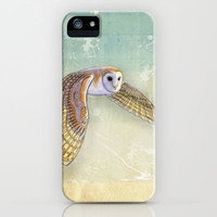 Barn Owl Labyrinth iPhone & iPod Case by Vin Zzep