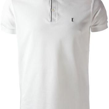 Saint Laurent Band Collar Polo Shirt