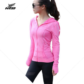 Sexy Zipper Jacket Long Sleeved Casual Hoodies Workout Sweatshirts Women Fitness Coats Harajuku Tracksuits Moletom Feminino
