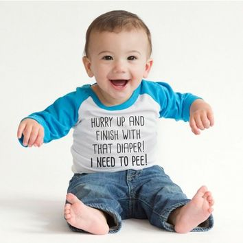 Finish With That Diaper Infant Tee | CrazyDog TShirts