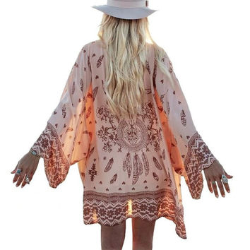 This is a Must Have👍Top-Kimono-Kaftan🌺Gorgeous Print❤