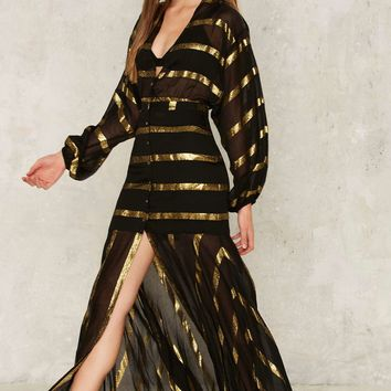 Nasty Gal Stripe Through Me Chiffon Dress