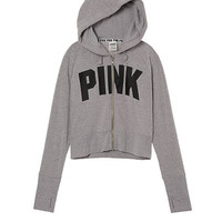Cropped Raglan Full-Zip - PINK - Victoria's Secret