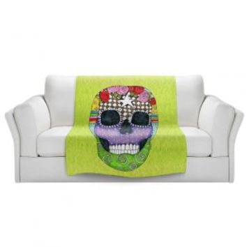 https://www.dianochedesigns.com/sherpa-pile-blankets-marley-ungaro-sugar-skull-lime.html