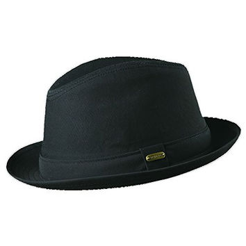 Stetson Men's Fedora Linen Hat, Black, X-Large