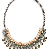 Women's Topshop Spike Statement Necklace - Silver Multi