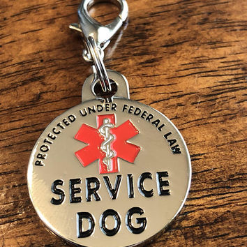 Double Sided Service Dog Small Breed Federal Protection Tag