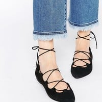 Park Lane Ghillie Lace Suede Flat Shoes