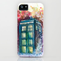 Doctor Who Tardis iPhone & iPod Case by Jessi Adrignola