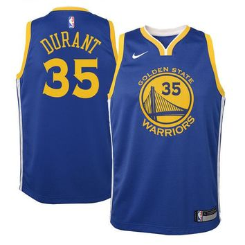 Youth Golden State Warriors Kevin Durant Nike Blue Swingman Jersey - Icon Edition