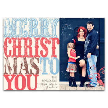 Rustic, Vintage Type: Merry Christmas To You