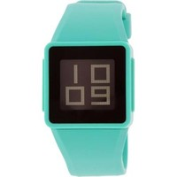 Nixon Women's Newton A1371060 Teal Rubber Quartz Watch - Walmart.com