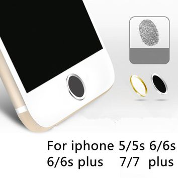 Polymer Material Touch key ID button protector Sticker Home keypad for iPhone 7 6 6s Plus 5s se Support Fingerprint Unlock