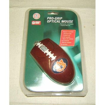 Promark Pro-Grip Optical Mouse Football Shape Auburn University USB 3 Button With Scroll -- New