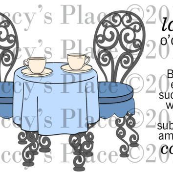 Coffee Time Rubber Stamp Set [00-694P5]