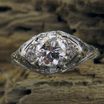 .67 Old European Cut Diamond Ring | New York Vintage & Antique Estate Jewelry â?? Erstwhile Jewelry Co NY