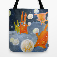 snowballs Tote Bag by Marianna Tankelevich