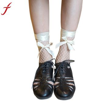 Women Ruffle Fishnet Socks Sexy Ankle Short Fishnet Socks
