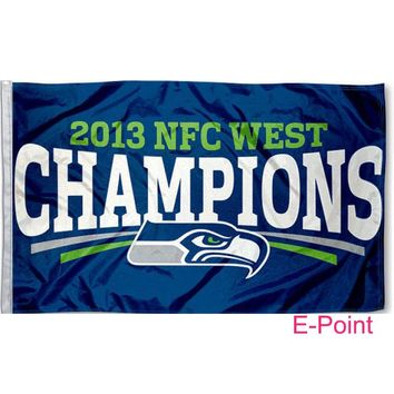 Seattle Seahawks 3ft*5ft (90*150cm) Size Christmas Decorations for Home Flag Banner Gifts