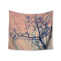 "Ingrid Beddoes ""Sweetgum Tree"" Pink Nature Wall Tapestry"