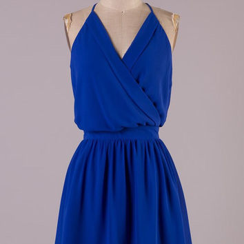 Date Night Dress - Royal Blue