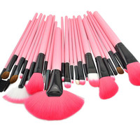 24PCS Makeup Brushes Set Cosmetic Brush in Pink