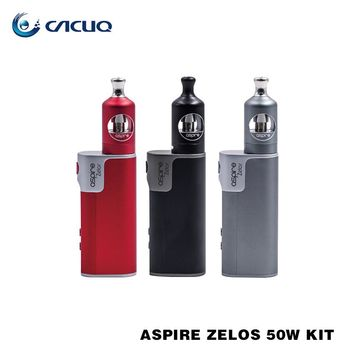 Original Aspire Zelos Kit 50W E-Cigarettes Zelos Box Mod Vape 2500mah Battery 2ML Aspire Nautilus 2 Tank Vaporizer BVC Coil