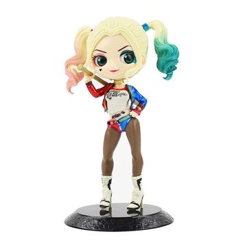 16cm Q Posket Harley Quinn The Suicide Squad PVC Action Figure Model Collection Toys Doll Girls Gifts with box