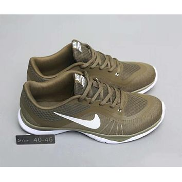 NIKE FLEX TRAINER lightweight breathable comprehensive training shoes F-A0-HXYDXPF Army green