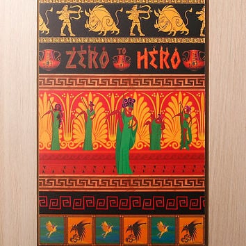 Disney Hercules Zero To Hero Wood Wall Art
