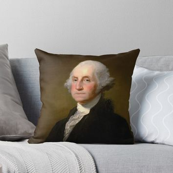 'PRESIDENT GEORGE WASHINGTON' Throw Pillow by truthtopower