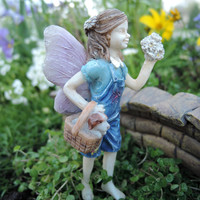 Miniature Fairy Garden Limited Edition Girl Fairy With Dog Maggie and Toby