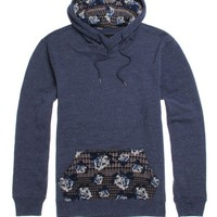 On The Byas Maurice Printed Pullover Hoodie - Mens Hoodies - Blue