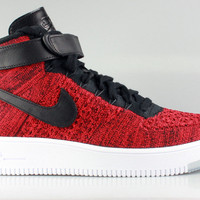 Nike Men's Air Force 1 Mid Ultra Flyknit University Red