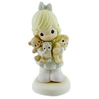 Precious Moments FAMILY'S FUR-EVER Porcelain Teddy Dog Kitten 108526